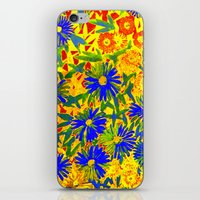 Blue Flowers By A Sunny … iPhone & iPod Skin