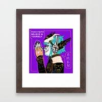 Believe in yourself Framed Art Print