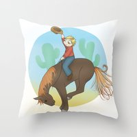 Yee Haw! Throw Pillow