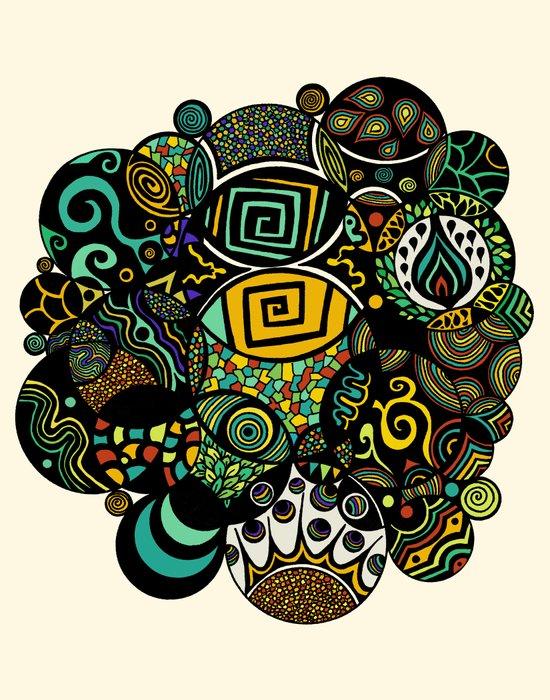 Multicultural Life Art Print