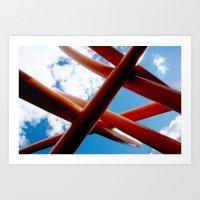 Sky Piping  Art Print