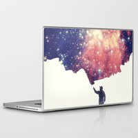 sky Laptop & iPad Skins featuring Painting the universe by badbugs_art