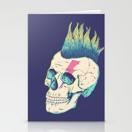 Stationery Cards featuring Skull Punk by Victor Vercesi