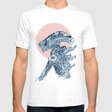 Floral Alien Mens Fitted Tee White SMALL