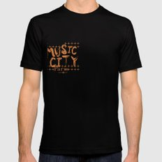 Music City Paris SMALL Black Mens Fitted Tee