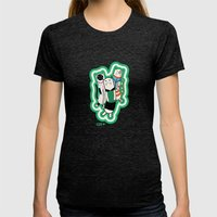 Joana's cats Womens Fitted Tee Tri-Black SMALL