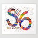 Indie Artists Society 6 Art Print