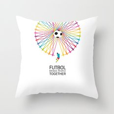 Futbol Brings People Together Throw Pillow