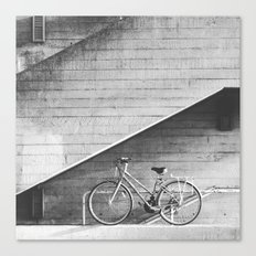 Bike and lines Canvas Print