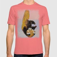 Red Panda Cub Mens Fitted Tee Pomegranate SMALL