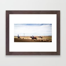 Country Racing Framed Art Print