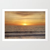 California Sunset Over O… Art Print