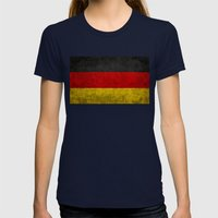German National flag - Vintage retro patina Womens Fitted Tee Navy SMALL