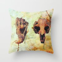 Crânio Dissonia Throw Pillow