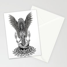 The angel start to pray... Stationery Cards
