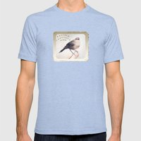 Little Capitola Bird Mens Fitted Tee Tri-Blue SMALL