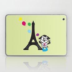 Puppy selfie in PARIS Laptop & iPad Skin