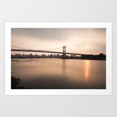 Triborough Bridge (NYC) at Sunset Art Print