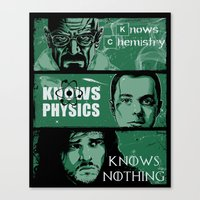 Knowledge Rules Canvas Print