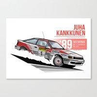 Juha Kankkunen - 1989 Australia Canvas Print