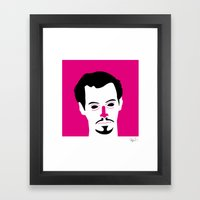 Mr pink Framed Art Print