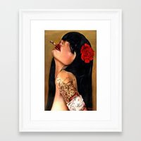 SmokingWMN Framed Art Print