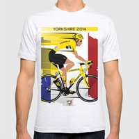 Grand Depart Yorkshire Tour De France  Mens Fitted Tee Ash Grey SMALL