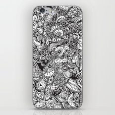 Detailed rectangle, black and white  iPhone & iPod Skin