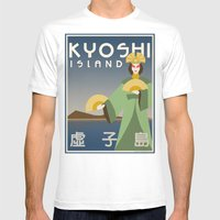 Kyoshi Island Travel Poster Mens Fitted Tee White SMALL