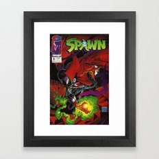 Spawn 1 cover Framed Art Print