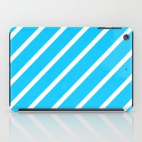 Blue & White Stripes iPad Case