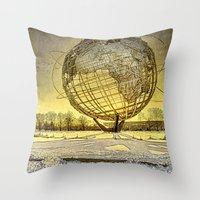 Unisphere Sunset Throw Pillow