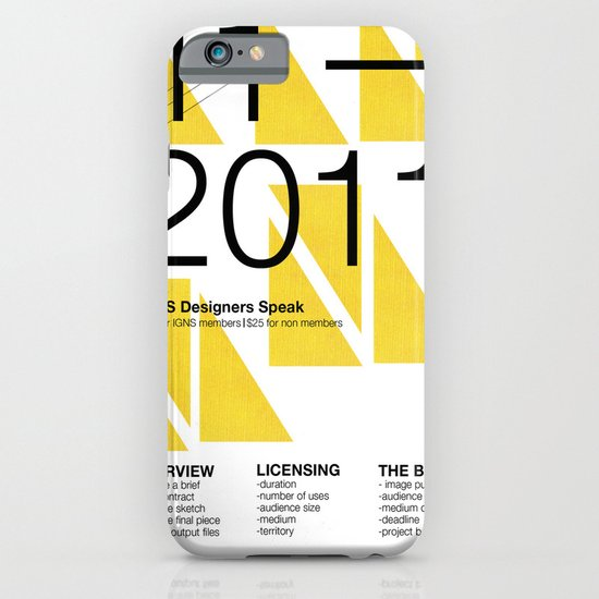 IGNS poster design iPhone & iPod Case