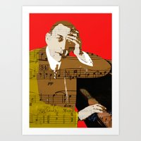 Sergei Rachmaninov Art Print