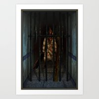 Pixel Art Series 6 : Pyr… Art Print