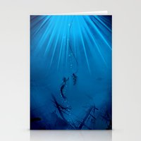 A Watery Meeting Stationery Cards