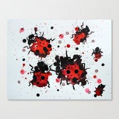 Splattered bugs Canvas Print