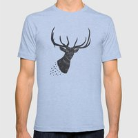 Taxidermied Elk Mens Fitted Tee Athletic Blue SMALL