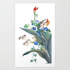 Feng shui flowers Art Print