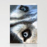 Blue eyes Stationery Cards