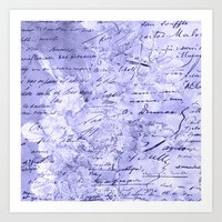flowers and words in lavender Art Print