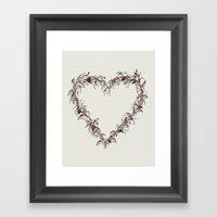 Love Grows Framed Art Print