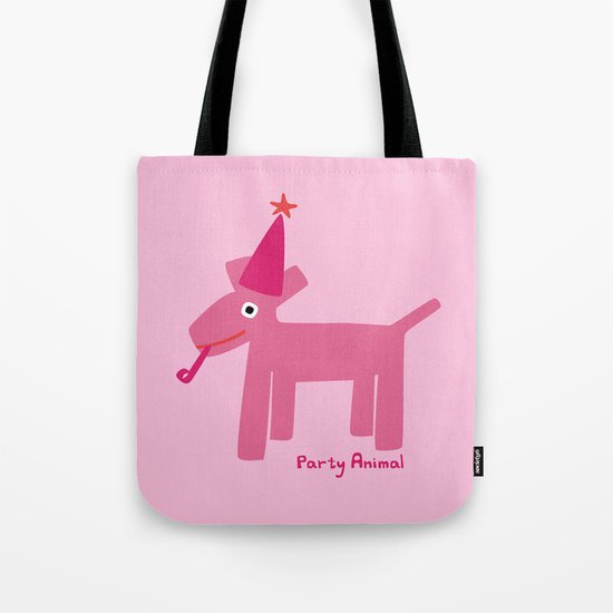 Party Animal-Pink Tote Bag