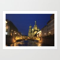 Saint Petersburg Russia … Art Print