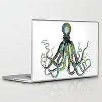 octopus Laptop & iPad Skins featuring Octopus by LebensART