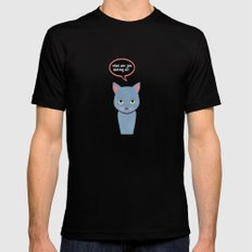cat -Alice Black SMALL Mens Fitted Tee