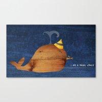 I Am A Happy Whale Canvas Print