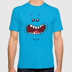 Mr. Meeseeks Rick and Morty Mens Fitted Tee Teal SMALL