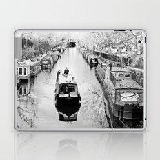 London canal during winter Laptop & iPad Skin
