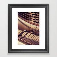 Le Vieux Piano Framed Art Print